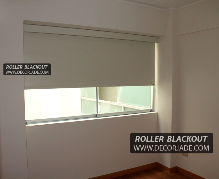 Cortina roller en tela black out para dormitorio peru