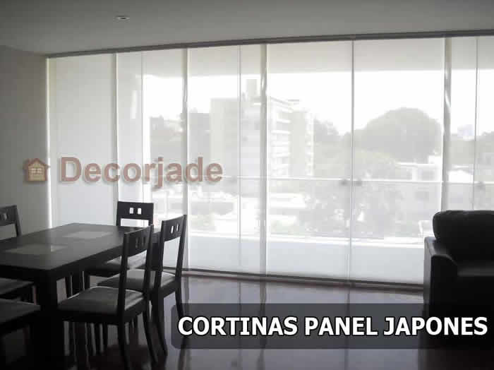 Cortinas Panel Japones - Cortinas Hunter Douglas Perú