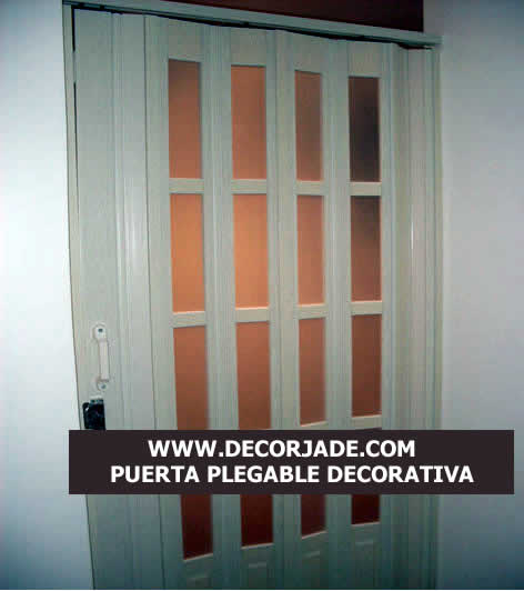 puerta plegable pvc decorativa